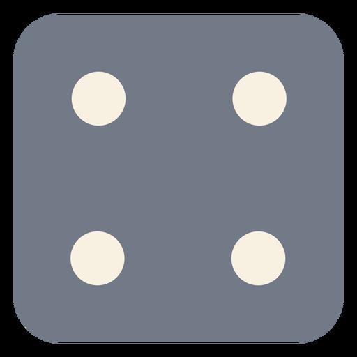 Silhueta de borda de quatro pontos de dados Transparent PNG