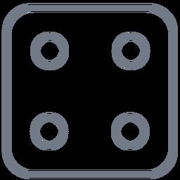 Dados de cuatro puntos de trazo de borde
