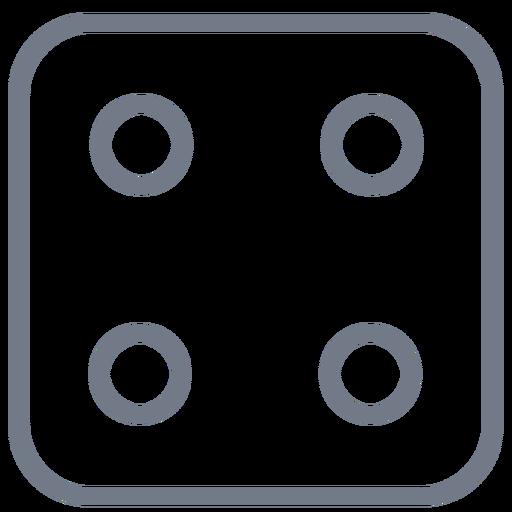 Corte de borda de quatro pontos de dados Transparent PNG