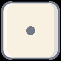 Cortar el borde de un punto en dados
