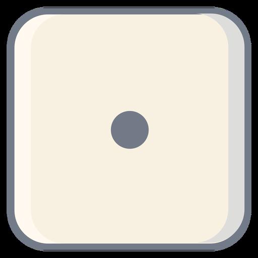 Dados un punto borde plano Transparent PNG