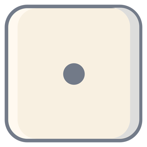 Dice one dot edge flat Transparent PNG