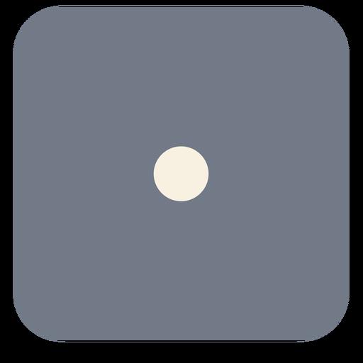 Silhueta de borda de um ponto de dados Transparent PNG