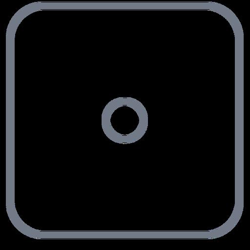 Um golpe de borda de um ponto Transparent PNG