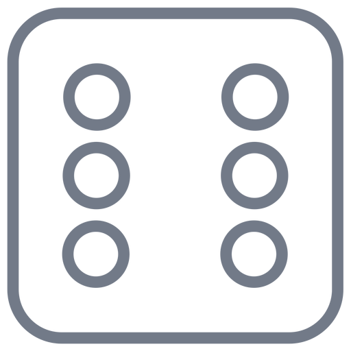 Corte de borda de seis pontos de dados Transparent PNG