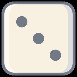 Dados de tres puntos de borde plano