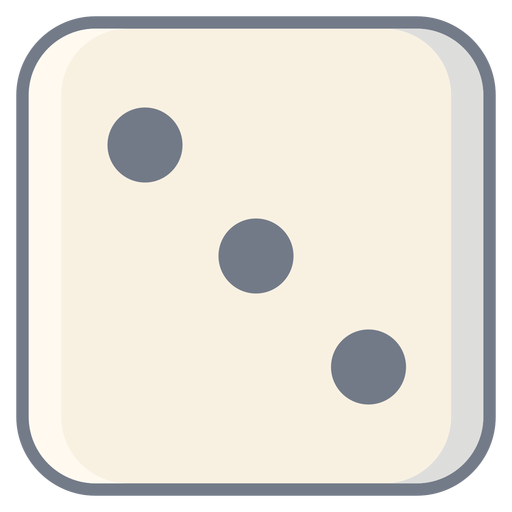 Dice three dot edge flat Transparent PNG
