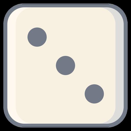 Dice três ponto borda plana Transparent PNG