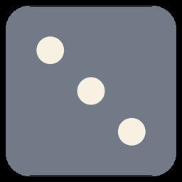Würfel drei Punkte Rand Silhouette