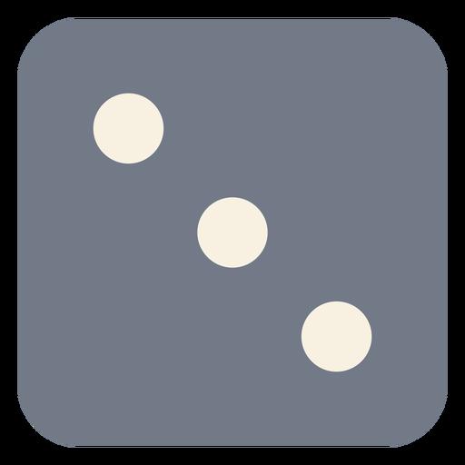 Dice three dot edge silhouette Transparent PNG