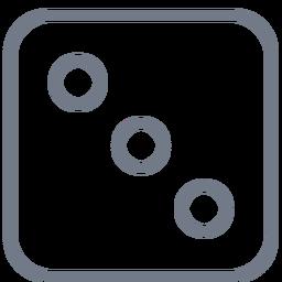 Dados de tres puntos de trazo de borde