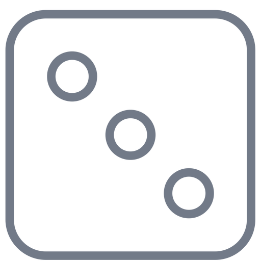 Dice three dot edge stroke Transparent PNG