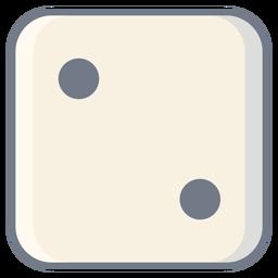 Würfel zwei Punktkante flach