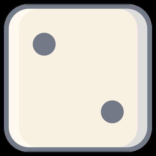 Dice dois dot edge flat Transparent PNG