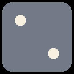 Würfel zwei Punkte Rand Silhouette