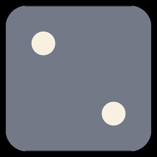 Dice silhueta de borda de dois pontos Transparent PNG