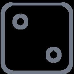 Dados de trazo de borde de dos puntos