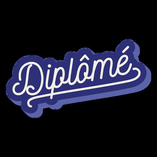 Autocolante Diplomé Transparent PNG