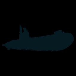 Buceador submarino torpedo tornillo silueta