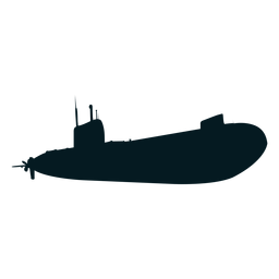 Diver submarine torpedo screw silhouette