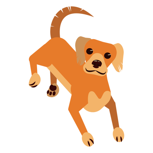 Cauda de garra de orelha de cachorro cachorro arredondada plana Transparent PNG