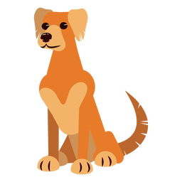 Perro cachorro oreja cola garra redondeada plana