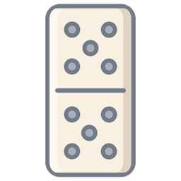 Domino dados cinco planos