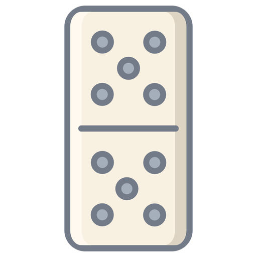 Domino Dice Five Flat Transparent PNG