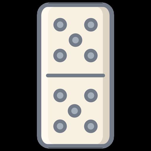 Domino dice five flat