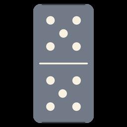 Domino cinco dados silhueta