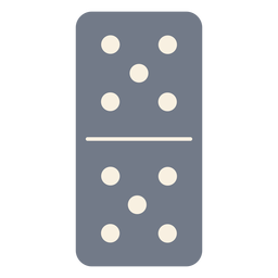 Domino dice five silhouette