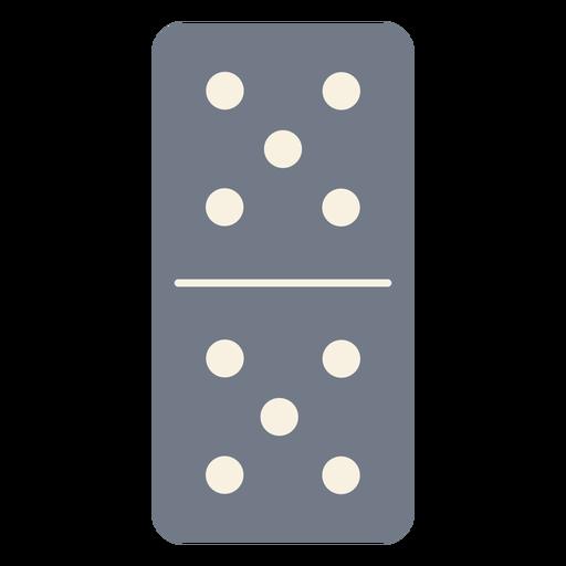 Domino dice five silhouette