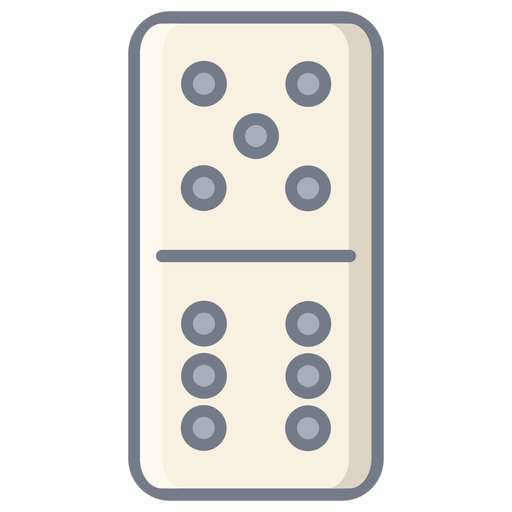 Domino dice five six flat Transparent PNG