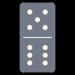 Domino dados cinco seis silueta