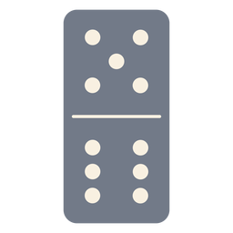 Domino dice cinco seis silhueta