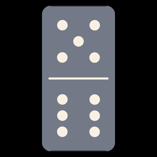 Domino dice cinco seis silhueta Transparent PNG
