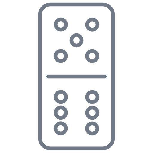 Domino dice five six stroke Transparent PNG