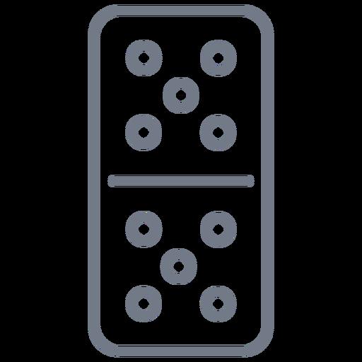 Domino dice five stroke Transparent PNG