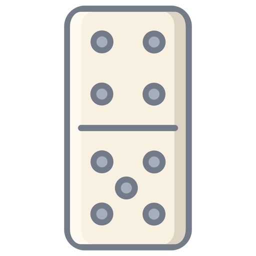 Domino dice four five flat Transparent PNG