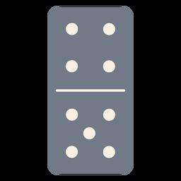 Domino dados cuatro cinco silueta