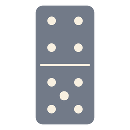 Domino dice four five silhouette