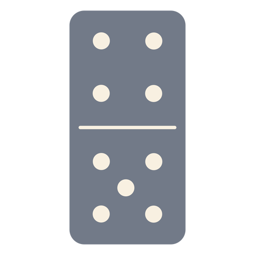 Domino dice four five silhouette Transparent PNG