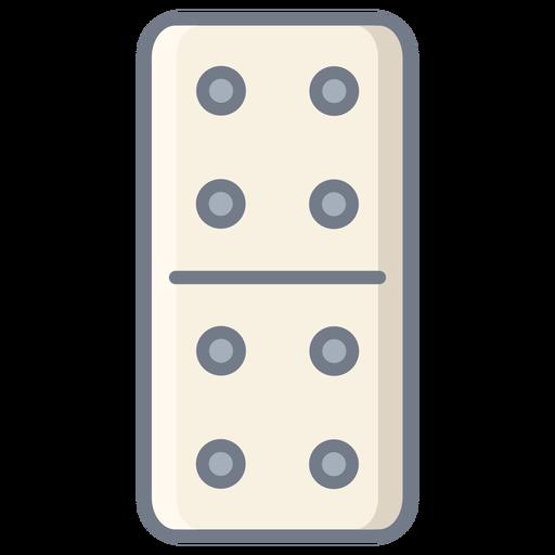 Domino dice four flat Transparent PNG