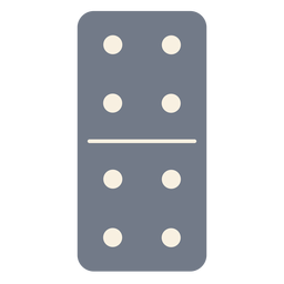 Domino dice four silhouette