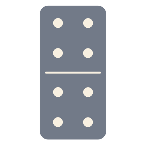 Domino dice four silhouette Transparent PNG