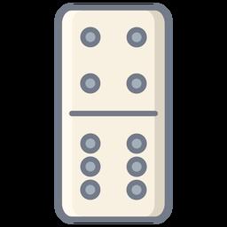 Dados de dominó cuatro seis planos