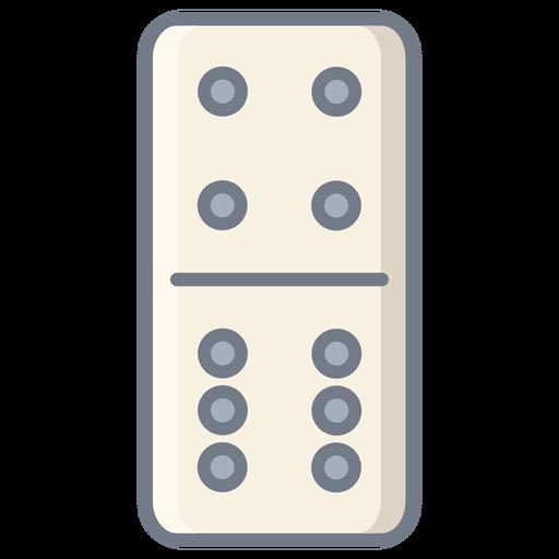 Domino dice four six flat Transparent PNG