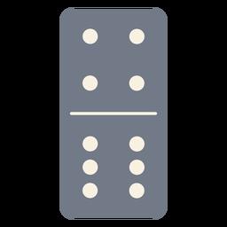 Domino dados cuatro seis silueta