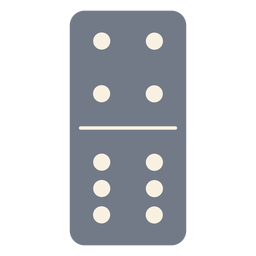 Domino dice four six silhouette