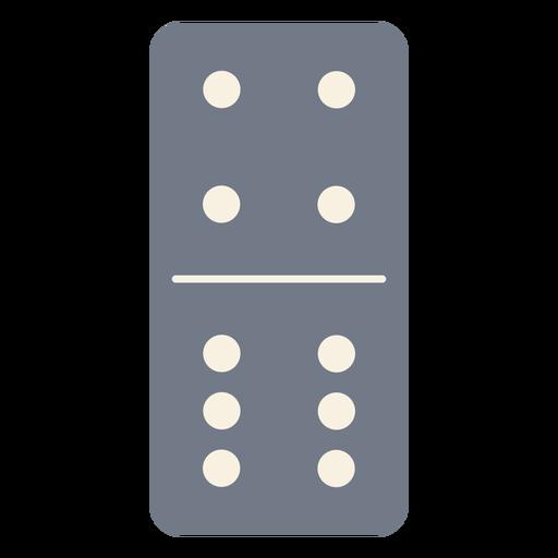 Domino dice quatro seis silhueta Transparent PNG